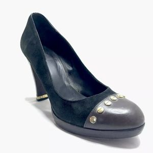 Tory Burch Shoes - Tory Burch Platform Heels Pumps Cap Toe Black